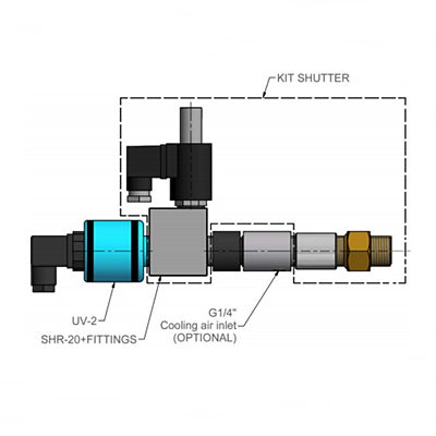 ESA Pyronics 74903 UV-2 Flame Detector with Shutter SHR