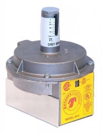 "Antunes JD-2 Industrial Air Pressure Switch Orange Spring 5-35"" W.C. 1/8"" NPT"