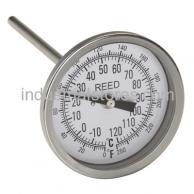 "Reed T3004-250 Thermometer Bi-Metal3"" Dial4"" Stem0/250F"