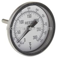 "Reed T30025-550 Thermometer Bi-Metal3"" Dial2.5"" Stem50/550F"