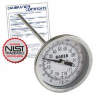 Baker T3009-250 Bimetal Thermometer 0 to 250F (-20 to 120C) with NIST Traceable Certificate