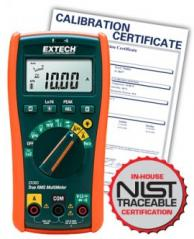 Extech EX365 True RMS Multimeter with 10 Functions + NCV, includes NIST Traceable Certification