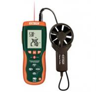 Extech HD300-NIST CFM/CMM Thermo-Anemometer with built-in IR Thermometer and NIST Traceable Certificate