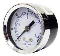 "Kodiak Controls 10220830/30 Pressure Gauge KC102 Series 2.0"" Dial 1/8"" NPT Center Back Mount 30"" Hg/30 PSI"