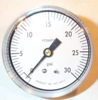 "Siemens Building Technology 142-0311 Gauge 2.5""Dial 0-30 PSI 1/4"" Barbed"